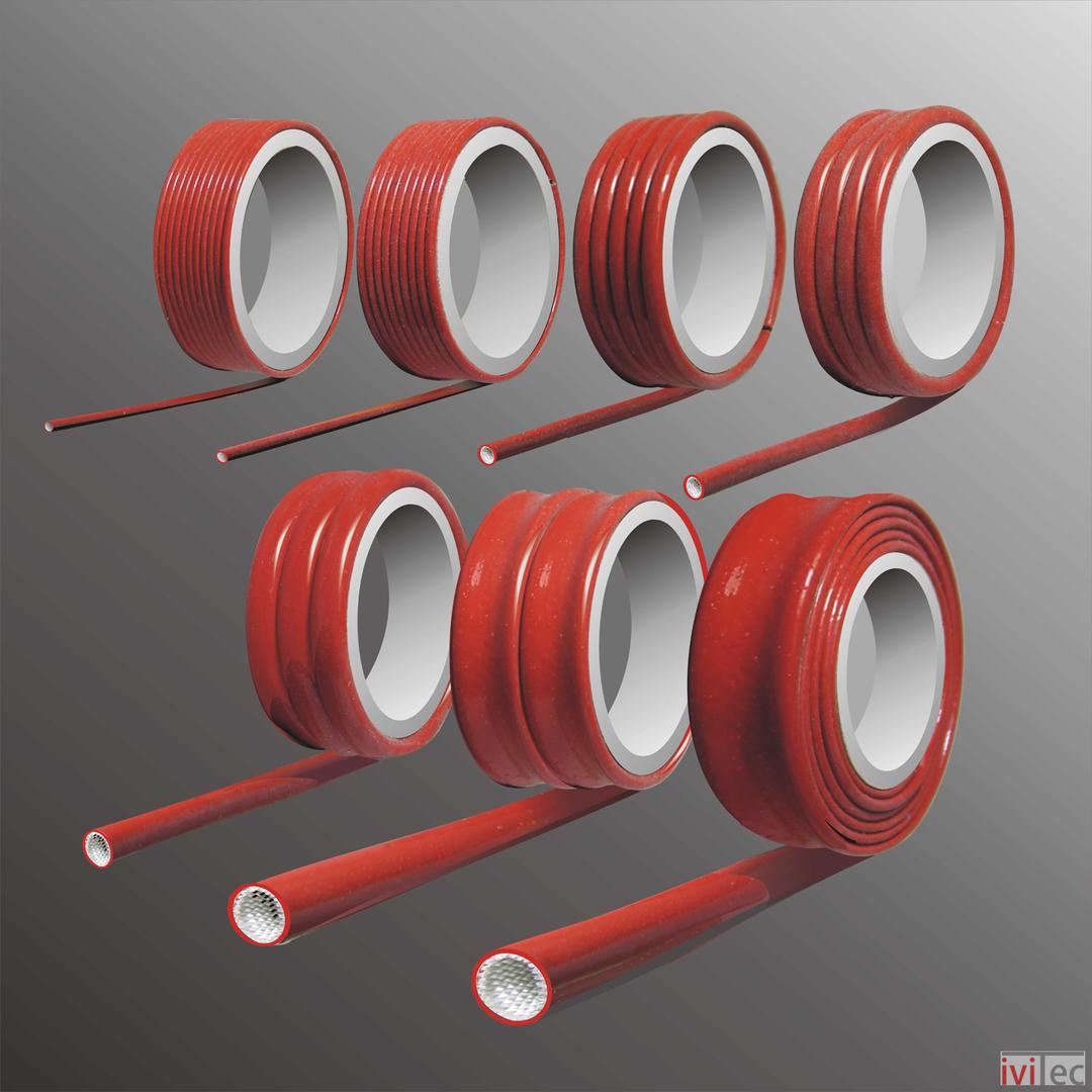 Silikon Glasfaser Geflecht Schlauch 250°C 3KV - iviTec